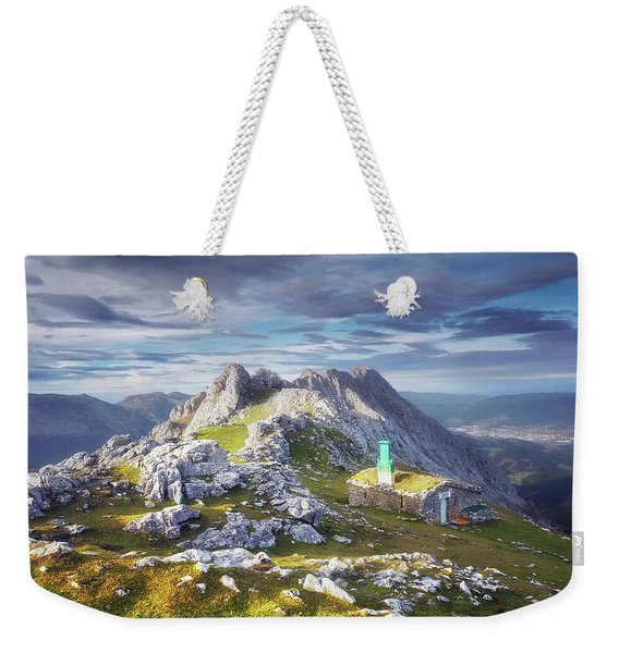 Shelter In The Top Of Urkiola Mountains Weekender Tote Bag