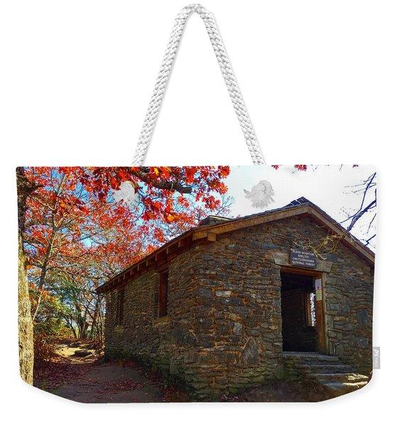 Blood Mountain Shelter Weekender Tote Bag
