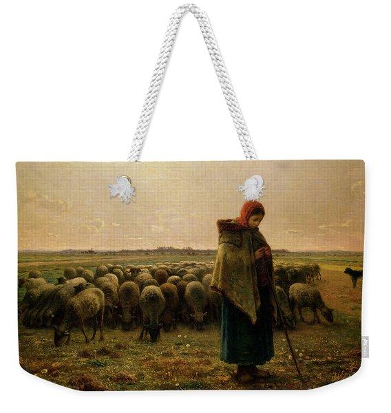 Shepherdess With Her Flock Weekender Tote Bag