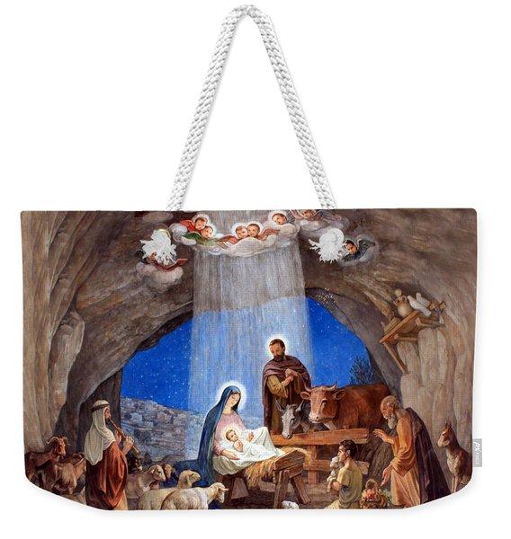 Shepherds Field Nativity Painting Weekender Tote Bag