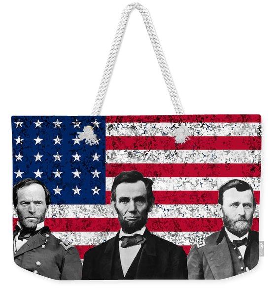 Sherman - Lincoln - Grant Weekender Tote Bag