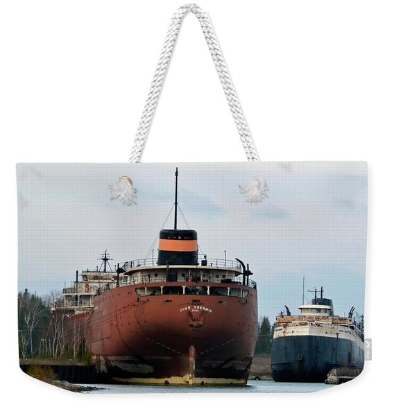 Sherwin At Detour Michigan Weekender Tote Bag