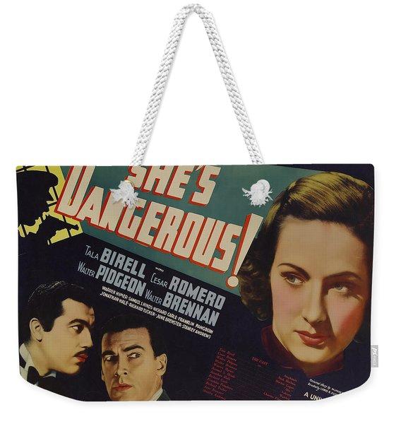 She's Dangerous 1937 Weekender Tote Bag