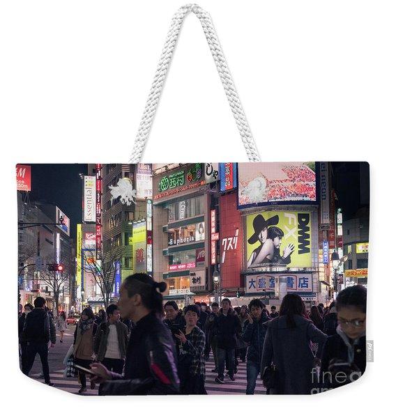 Shibuya Crossing, Tokyo Japan 3 Weekender Tote Bag