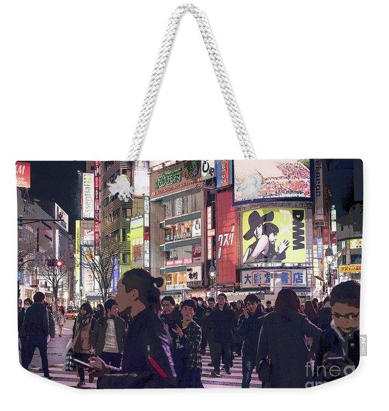 Shibuya Crossing, Tokyo Japan Poster 3 Weekender Tote Bag