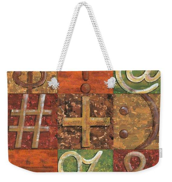 Shift Keys Weekender Tote Bag