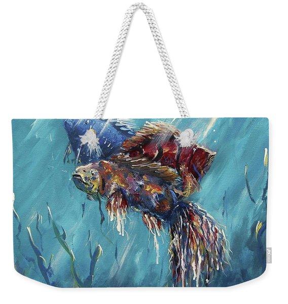 Shine Trough The Ocean Weekender Tote Bag