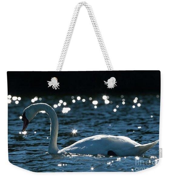 Shining Swan Weekender Tote Bag