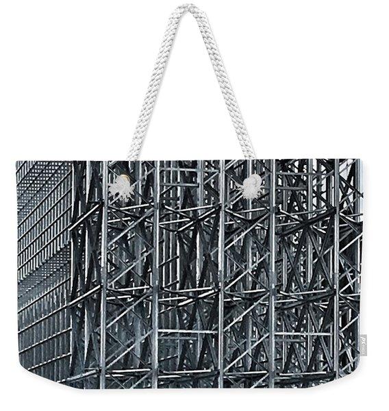 Shiny Steel Construction Weekender Tote Bag