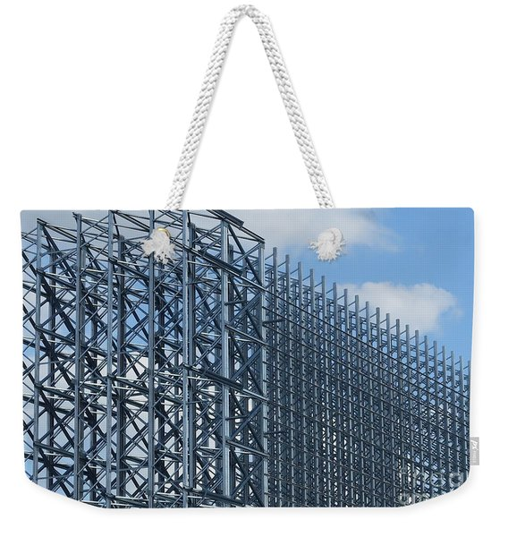 Shiny Steel Construction In Nature Weekender Tote Bag