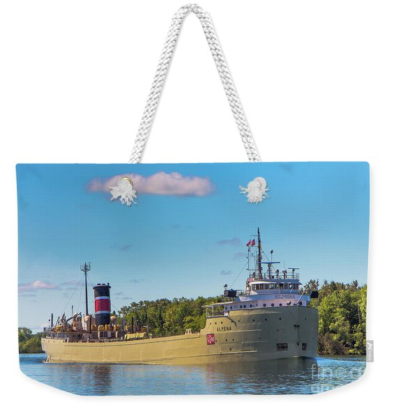 Ship Alpena -8882  Michigan Great Lakes Weekender Tote Bag