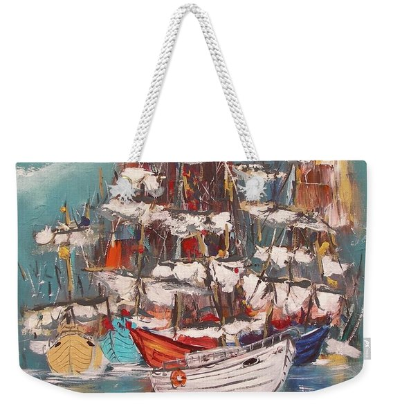 Ship Harbor Weekender Tote Bag