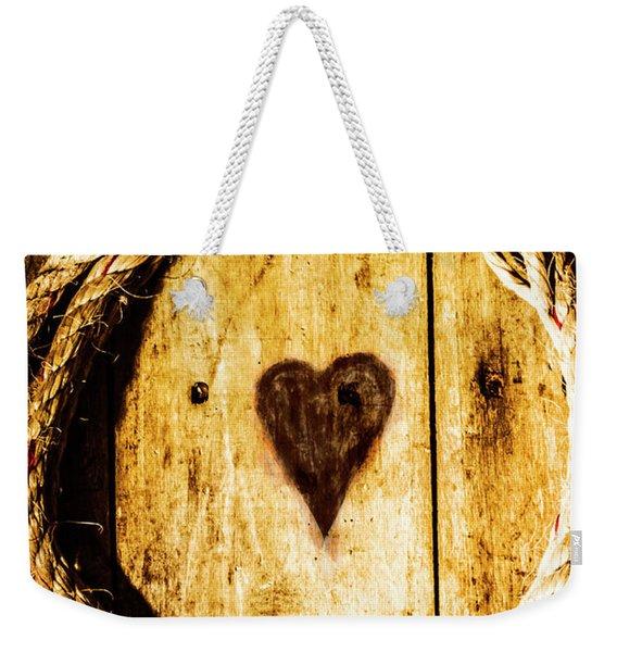 Ship Shape Heart Weekender Tote Bag