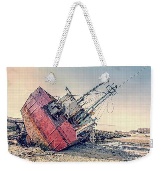 Shipwreck Provincetown Breakwater Weekender Tote Bag