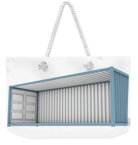 Shipping Container Cutaway Weekender Tote Bag