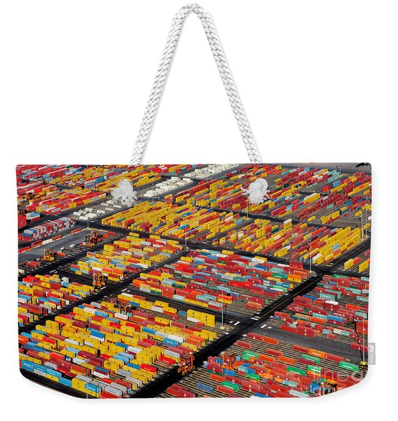 Shipping Container Yard Weekender Tote Bag