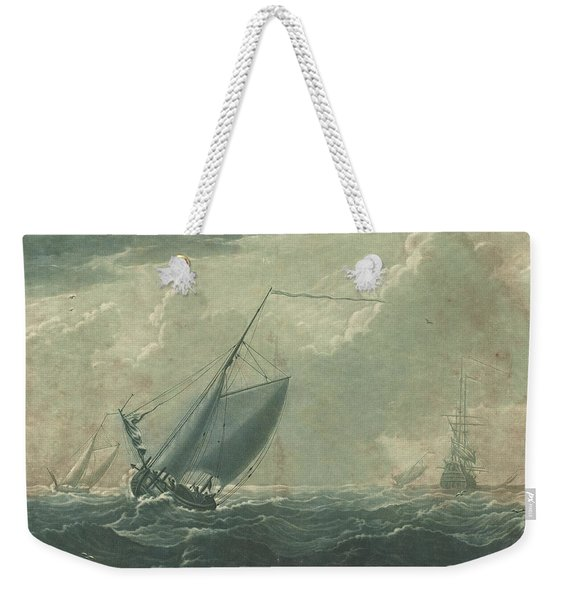 Shipping Scene From The Collection Of Hugo Howard Weekender Tote Bag