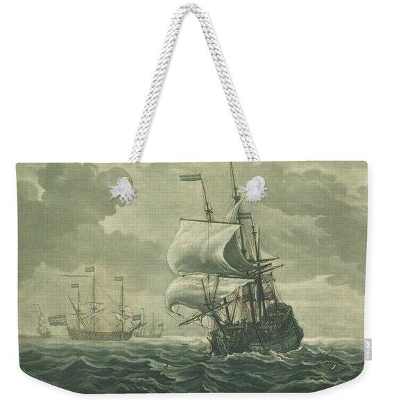 Shipping Scene From The Collection Of Jacob Gibbs Weekender Tote Bag