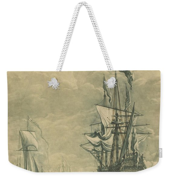 Shipping Scene From The Collection Of Nathaniel Blackerby Weekender Tote Bag