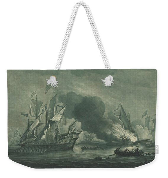 Shipping Scene From The Collection Of Onuphrij Edwin Weekender Tote Bag