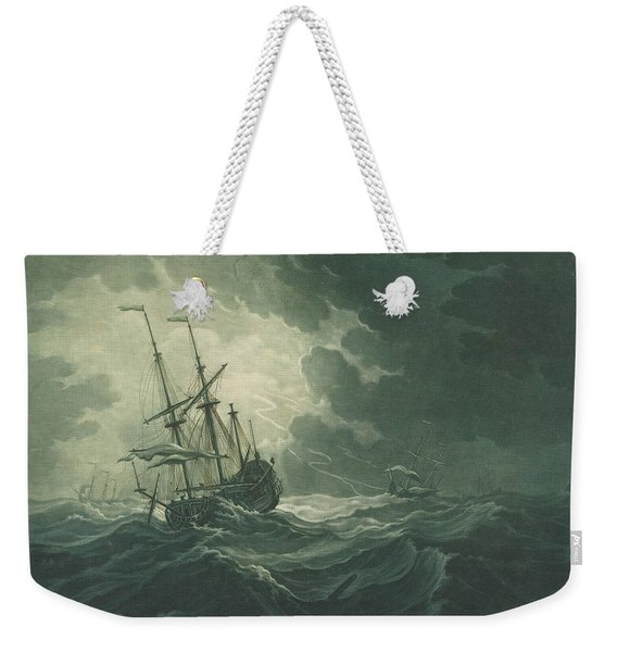 Shipping Scene From The Collection Of Philip Hollingworth Weekender Tote Bag