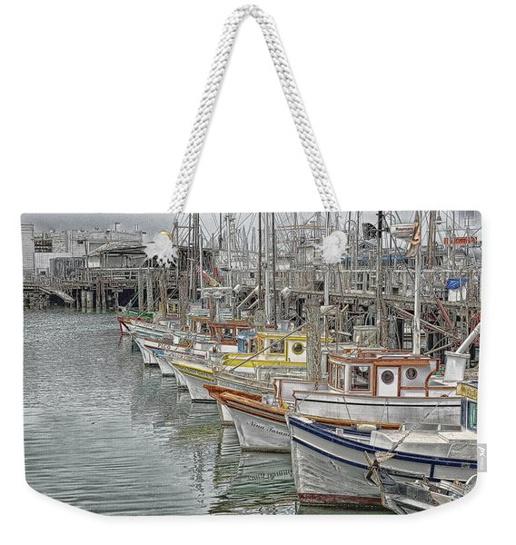 Ships In The Harbor Weekender Tote Bag