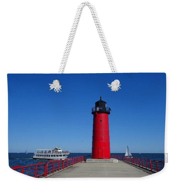 Ships Passing In Plain Sight Weekender Tote Bag