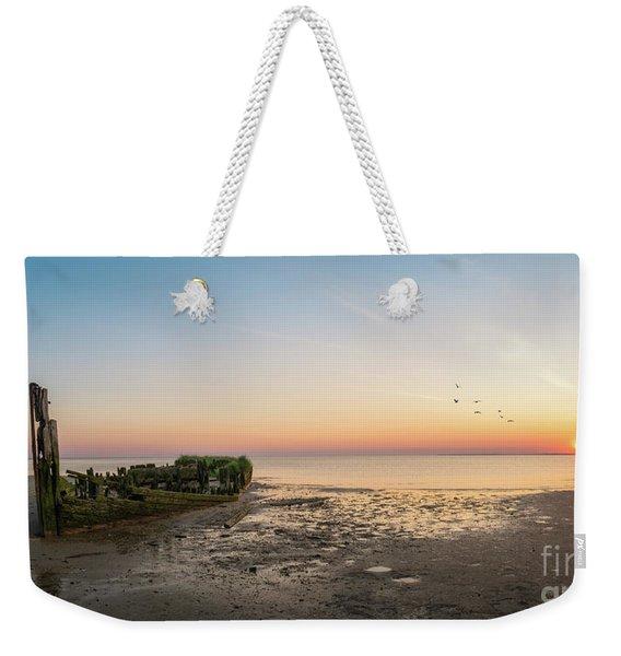 Shipwreck Sunset Panorama  Weekender Tote Bag