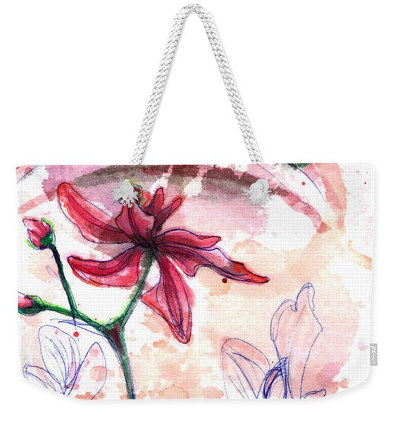 Weekender Tote Bag featuring the painting Shiraz Orchid II by Ashley Kujan