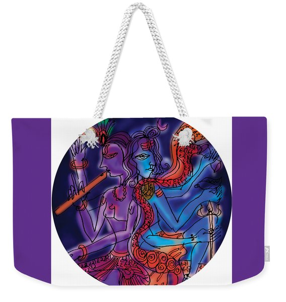 Shiva And Krishna Weekender Tote Bag