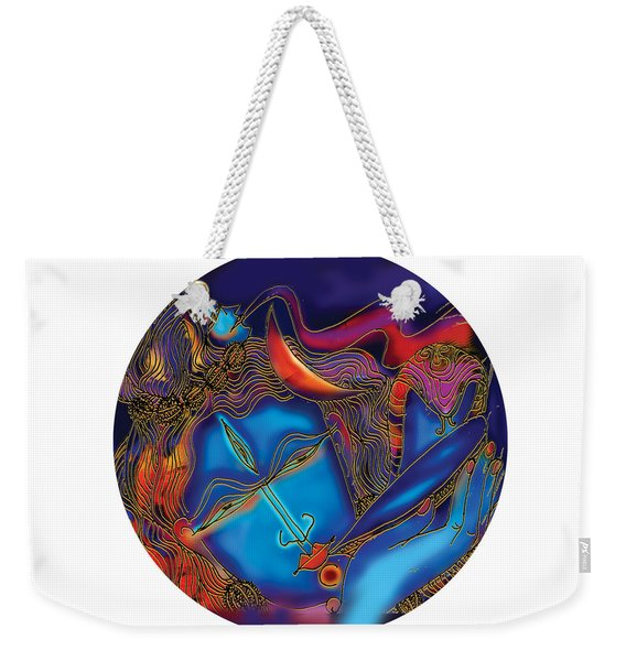 Shiva Blowing The Horn Weekender Tote Bag