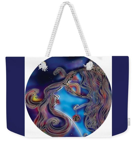 Weekender Tote Bag featuring the painting Shiva  by Guruji Aruneshvar Paris Art Curator Katrin Suter