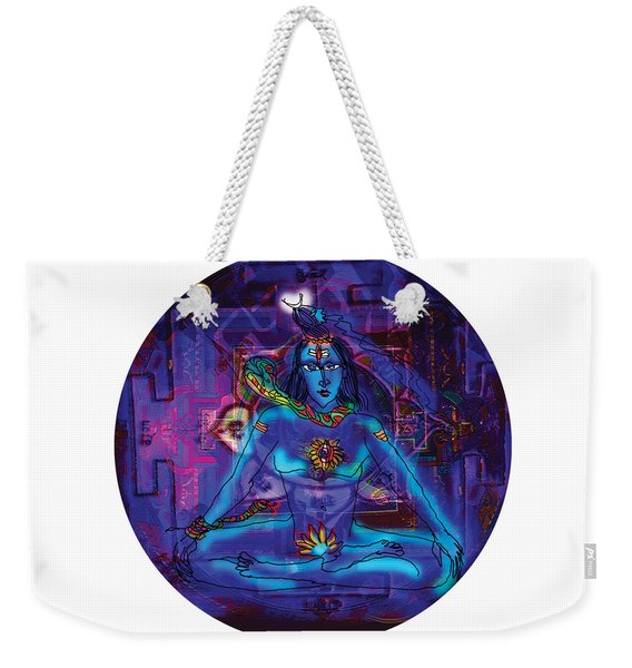Shiva In Meditation Weekender Tote Bag