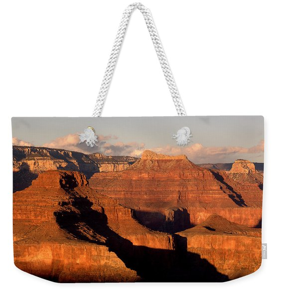 Shiva Temple  At Sunset Grand Canyon National Park Weekender Tote Bag
