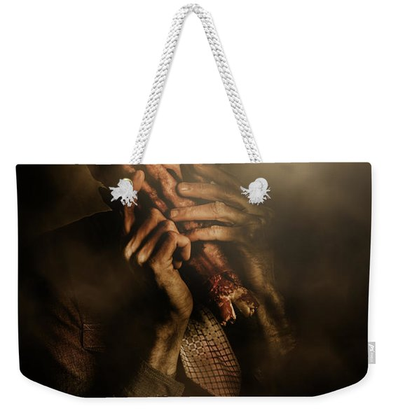 Shock Of Terror On Fright Night  Weekender Tote Bag
