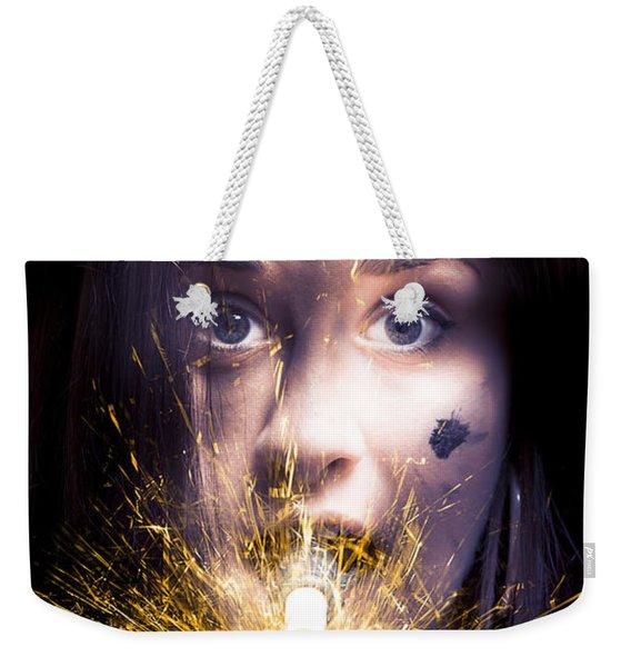 Shocked Weekender Tote Bag