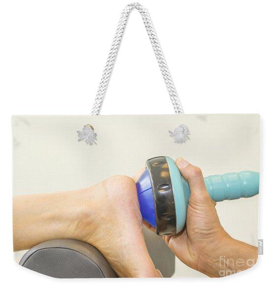 Shockwave Treatment On Foot Sole Weekender Tote Bag