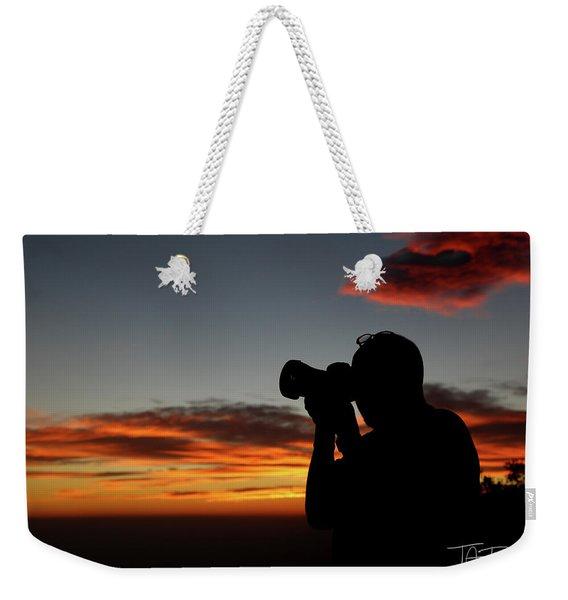 Shoot The Burning Sky Weekender Tote Bag