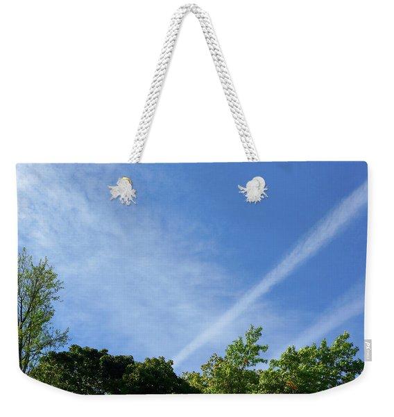 Shooting Vapor Trails Weekender Tote Bag