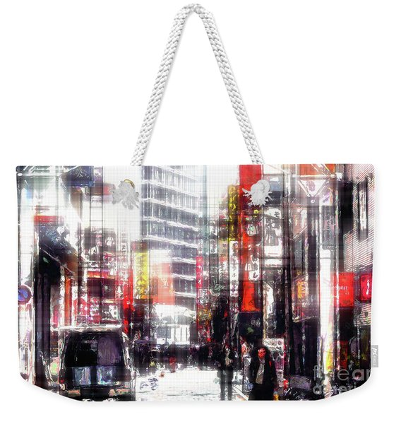 Shopping Downtown Weekender Tote Bag