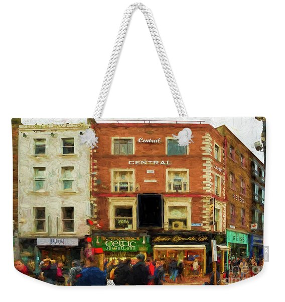 shopping on Grafton Street in Dublin Weekender Tote Bag
