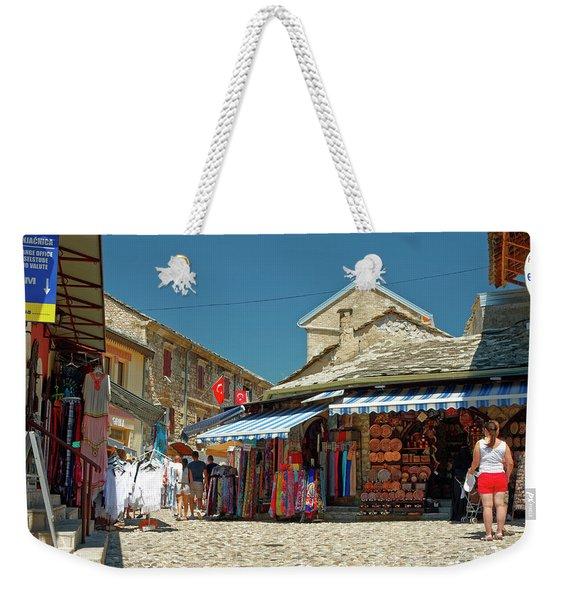 Shops And Cobblestones Weekender Tote Bag