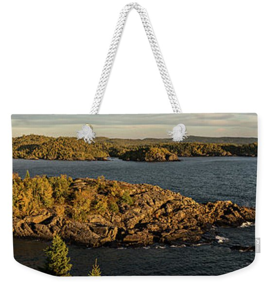 Weekender Tote Bag featuring the photograph Shores Of Pukaskwa by Doug Gibbons