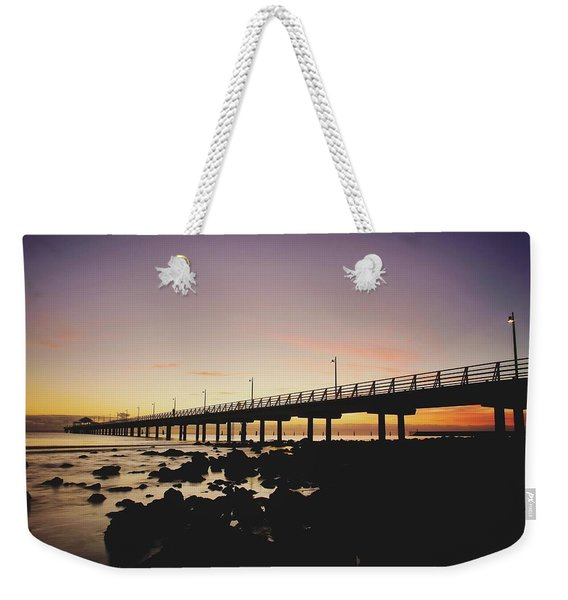 Shorncliffe Pier At Dawn Weekender Tote Bag