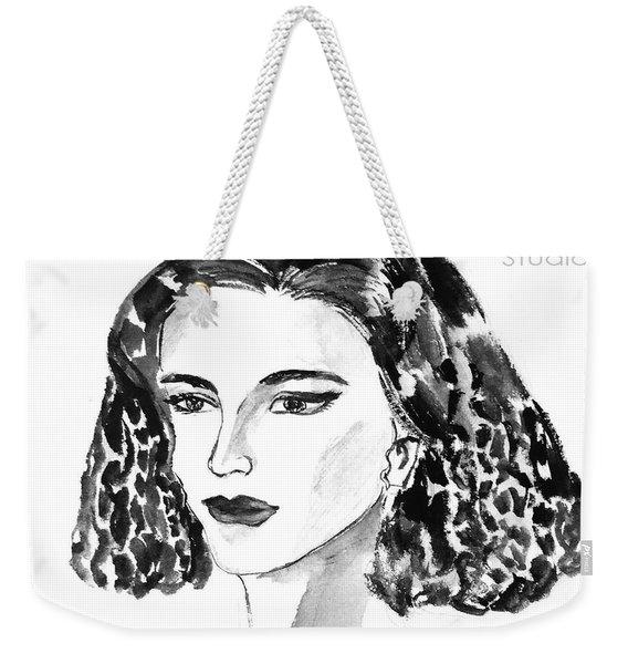 Short Hair Fashion Lady Weekender Tote Bag