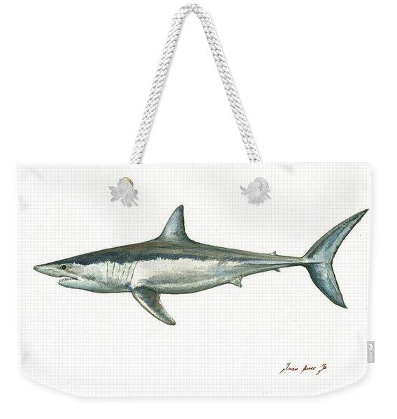 Shortfin Mako Shark Weekender Tote Bag