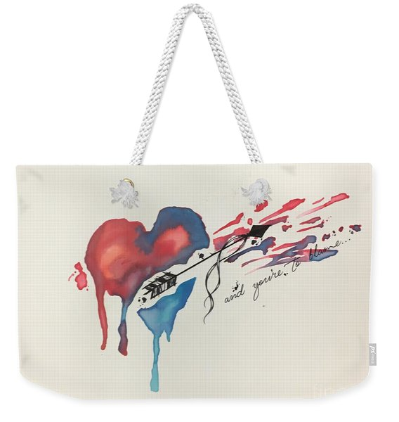 Shot Thru The Heart Weekender Tote Bag