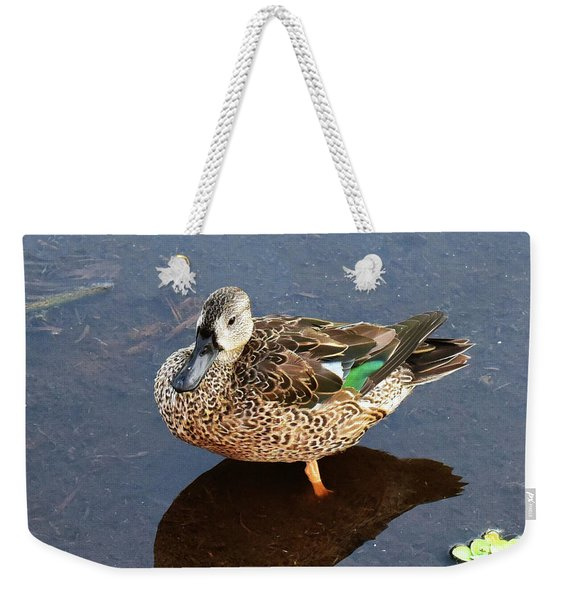 Weekender Tote Bag featuring the photograph Showing Color by Sally Sperry