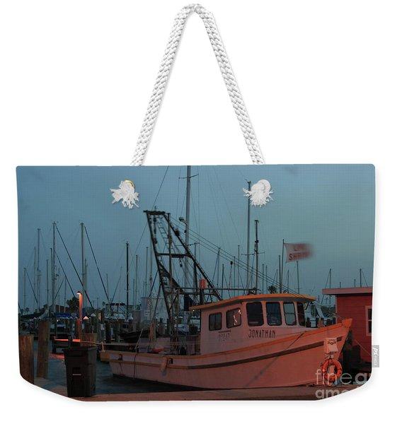 Shrimp Boat Weekender Tote Bag