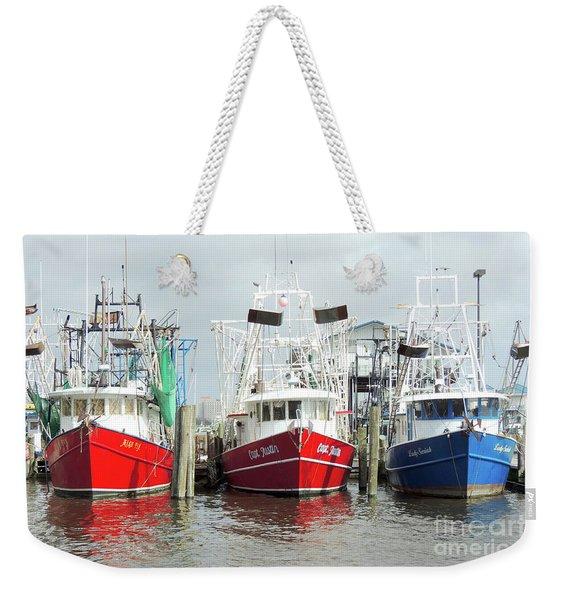 Shrimp Boats At Rest 1 Weekender Tote Bag